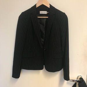Calvin Klein pinstripe blazer 6P